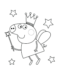 Pigs Coloring Pages Fairy Pig Coloring Pages Peppa Pig Coloring