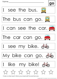 Kindergarten Sight Word Sentences and Games for Guided Reading ...