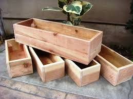 image of diy wood planter boxes