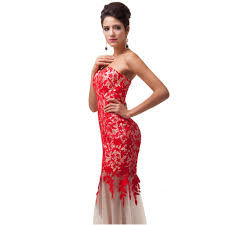 Red And White Party Dress Coctail Dresses
