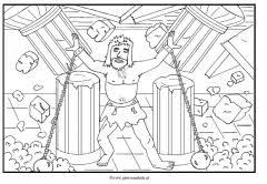Kleurplaten Oude Testament Simson Clipart Geloven Is Leuk