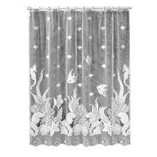 white lace shower curtain. Heritage Lace Seascape 72\ White Shower Curtain