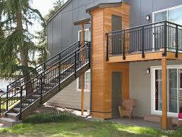 Double top picket stairs and balcony 4