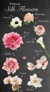types of silk flowers trying to decide which flowers to use for your wedding we ve got a wide variety of premium quality silk flowers
