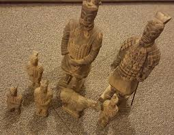 set of chinese terracotta army warriors horse small figurines ornaments no box 1 of 4free