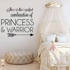 girls princess warrior bedroom vinyl