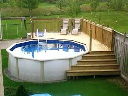 Above Ground Pool Decks Above Ground Pools With Decks For Sale Home