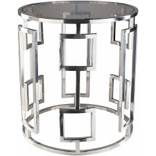 artistic weavers rhiv  in chrome silver side tables