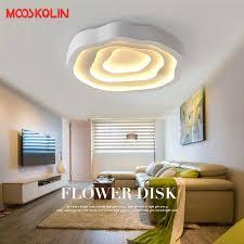 2017 modern led ceiling lights living room bedroom led ceiling lamp white iron wave indoor light