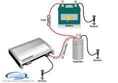 audio capacitor wiring zacharias' stuff pinterest audio, car Wiring Diagram For Capacitor audio capacitor wiring wiring diagram for capacitor well pump