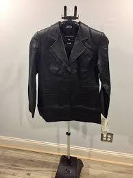 details about women s black leather metro style motorcycle jacket size 6 flash