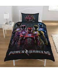 power rangers personalised panel duvet cover set