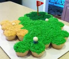 11 Miniature Golf Cupcakes Photo Golf Cupcakes Mini Golf Birthday