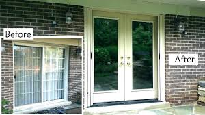 replacing sliding glass door with french door sliding glass door glass replacement cost