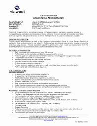 Gallery Of Sample Resume for Experienced Linux System Administrator Lovely  Download Linux System Engineer Sample Resume Administrator Fresher