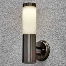 solar outdoor wall lamp jolla with led stainless steel outdoor wall