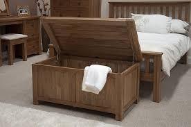 Rustic Oak Bedroom Furniture Blanket Storage Box Chest Trunk Ebay