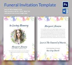 Funeral Invitation Template Simple Obituary Card Template Eulogy Funeral Invitation Templates Free