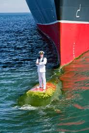 Modern Ship Bow Design Standing On The Bulbous Bow Of The Worlds Largest Ocean