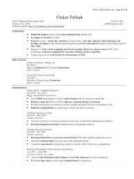 Sample Industrial Engineer Resume Industrial Engineer Resume Page 1