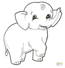 Small Picture Cute Elephant Coloring Pages Baby Elephant Coloring Page
