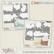 Gingerscraps Bundled Goodies Cu Speech Bubble Pocket