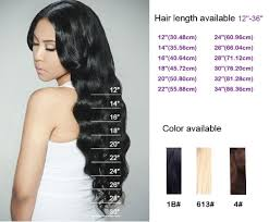 Hair Length Chart Weave Top Quality 100 Virgin Remy Indian Loose Wave Weave Hair Weft