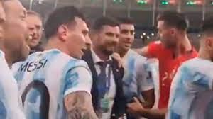 Copa America 2021: Messi stops De Paul ...