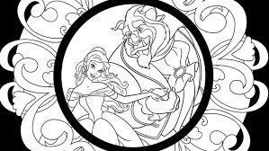 Small Picture Beauty and the Beast Coloring Pages D23