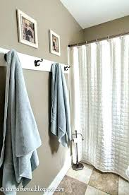 Towel Rack With Hooks For Bathrooms Bathroom Hand Holder Ideas Hook