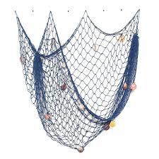 Decorative Fish Netting Decorative Nautical Fish Net Shells Floats 5 X 10 Blue Wall