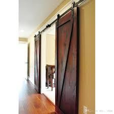decorative 5ft double sliding barn wood door jpg