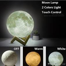 3d moon lamp led night magical moon light moonlight desk lamp rechargeable 15cm 3d light stepless for home decoration lights moon lamp led lamp