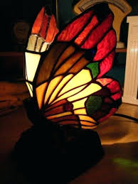 jj peng tiffany style lamps holiday stained glass erfly electric table lamp rose base night