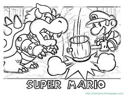 Paper Mario Coloring Pages At Getdrawingscom Free For Personal