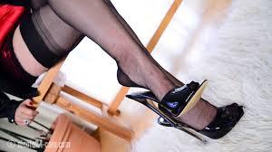 High heels and nylon fetish