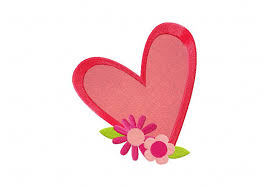 Pictures Of Hearts And Flowers Bright Hearts And Flowers Machine Embroidery Design Includes Both Applique And Filled