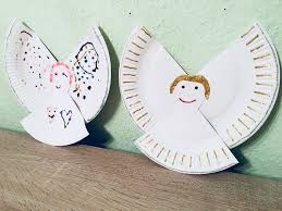 Engel Aus Pappteller Basteln Mit Kindern Der