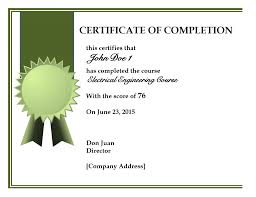 Certificate Of Completion Templates Word Template Whosonline Co
