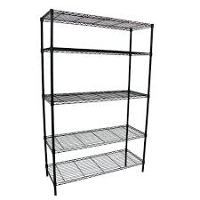 metal storage shelves. 5-shelf 36 in. w x 16 l 72 metal storage shelves