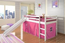kids bunk bed for girls. Beautiful Bunk Amazoncom Donco Kids Twin Tent Loft With Slide And SlatKits In White  Pink Tent Kitchen U0026 Dining And Bunk Bed For Girls S
