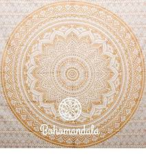 hanging sheet beautiful gold handmade crafted indian ombre mandala tapesty wall