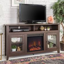 58-inch Espresso Wood Highboy Fireplace TV Stand - Free Shipping Today -  Overstock.com - 18870154