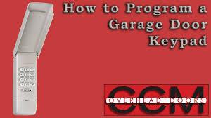 keypad to a liftmaster garage door