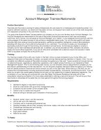 Enterprise Management Trainee Resume Sampleank Manager Examples