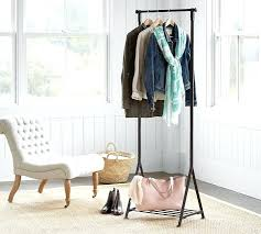 stand up coat rack standing coat rack pottery barn throughout small design