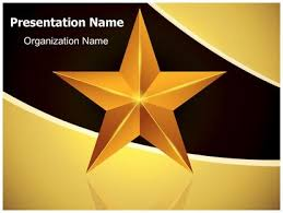 star ppt background celebration gold star powerpoint template background