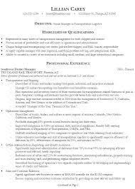 resume logistics resume