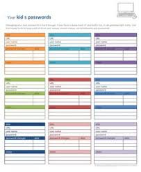 passwords template free printables to organize you blog save you website passwords