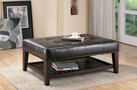 Great Leather Coffee Table Ottoman 36 Top Brown Leather Ottoman Coffee  Tables